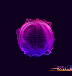 Corrupted violet point sphere abstract vector