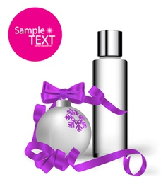Cosmetics packaging Holiday Gift vector
