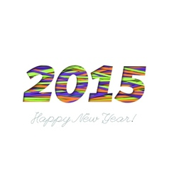 Creative greeting card design for New Year 2015 vector image