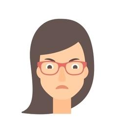Detesting angry woman vector image