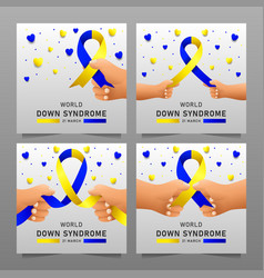 Down syndrome world day poster vector