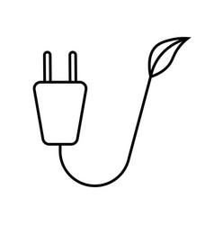 ecology plug leaf vector image