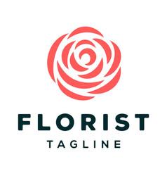 Florist logo design vector
