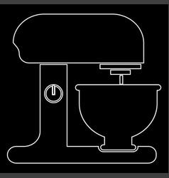 Food processor white color path icon vector