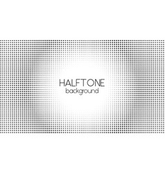 halftone dotted background black and white vector image