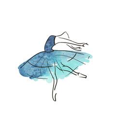 hand drawing ballerina figure vector image
