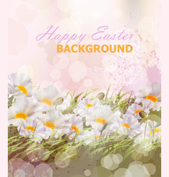 Happy easter background realistic vector