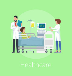 Healthcare poster with title vector