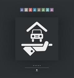 Hotel icon car parking vector