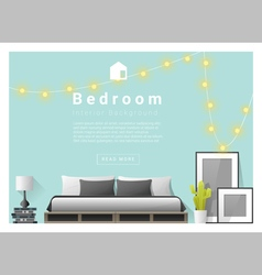 Interior design bedroom background 3 vector image