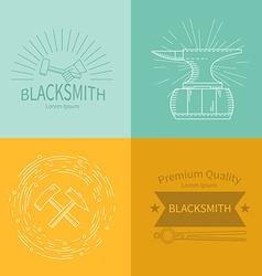 Labels blacksmith vector