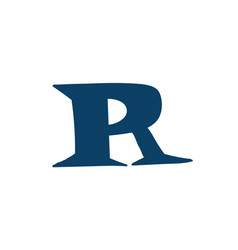 latin letter r logo for company icon for the vector image