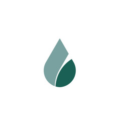 letter l water drop icon logo element vector image