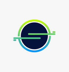 minimalist letter s circle creative logo design vector image