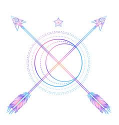 Moon an arrows sacred geometry arrow and vector