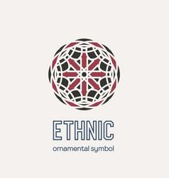 mosaic ethnic emblem vector image