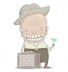 old millionaire vector image