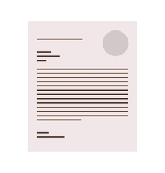 Page with a letter icon vector