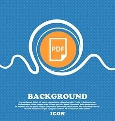 PDF Icon sign Blue and white abstract background vector