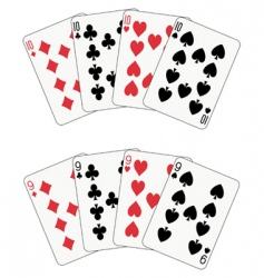 poker ten and nine vector image