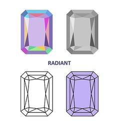 Radiant gem cut vector