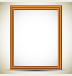 Rectangle portrait wooden picture image or photo vector