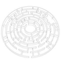 Round tangled maze vector