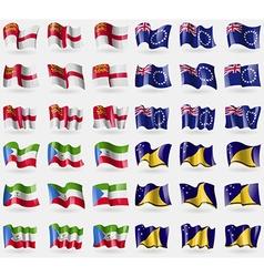 Sark Cook Islands Equatorial Guinea Tokelau Set of vector