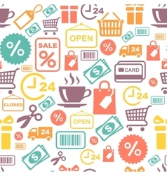 Seamless background with colorful shopping vector