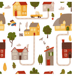 seamless pattern summer hand drawn doodle vector image