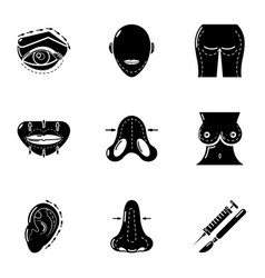 Sexy icons set simple style vector
