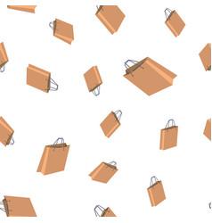 shopping bag seamless pattern retail icon vector image
