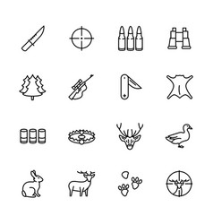 simple icon set forest hunting contains such vector image