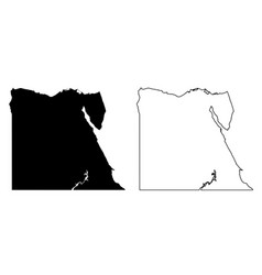 simple only sharp corners map egypt drawing vector image