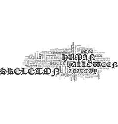 skeleton word cloud concept vector image