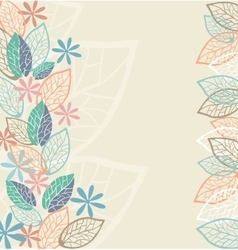Stylized flowers and leaves for greeting cards vector