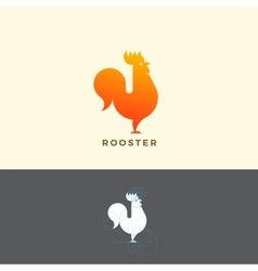 Stylized Rooster Sign Emblem or Logo Template vector image