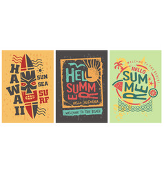 summer shirts graphic designs set template vector image
