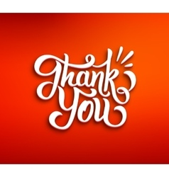 Thank You 3D inscription on red background vector image