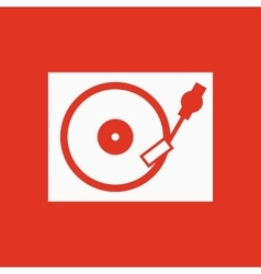 The turntable icon DJ and gramophone player vector