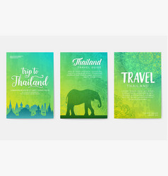 Traditional style brochure pages flyer for travel vector