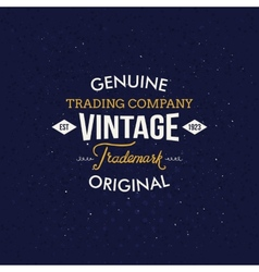 Vintage Fashion Labels on Dark Blue Background vector image