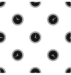 watch pattern seamless black vector image