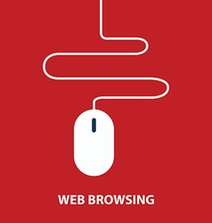 Web browsing concept vector image
