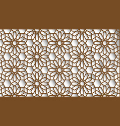 White and beige colors islamic background arabic vector