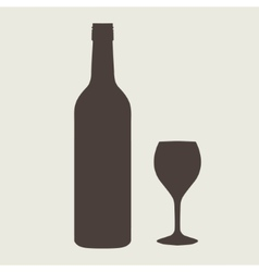 wine bottle sign set Bottle icon vector image vector image
