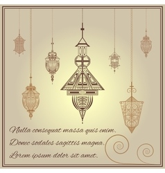 Greeting card vintage ethnic ornament style with vector image vector image