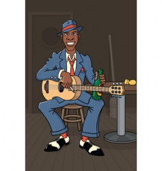 king of the delta blues vector image vector image