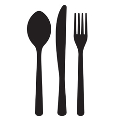 monochrome pattern of dining accessorie - forks vector image