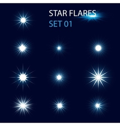Star flares vector image vector image